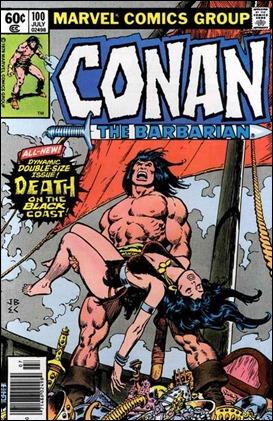 El mitico numero 100 de Conan the Barbarian, con John Buscema narrando la muerte de Belit
