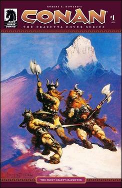 Portada de Frazetta ilustrando el relato La hija del gigante de hielo