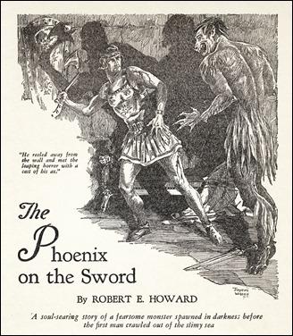 Primera version grafica de Conan, por Jayem Wilcox para Weird Tales