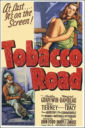 Cartel original de La ruta del tabaco, de John Ford