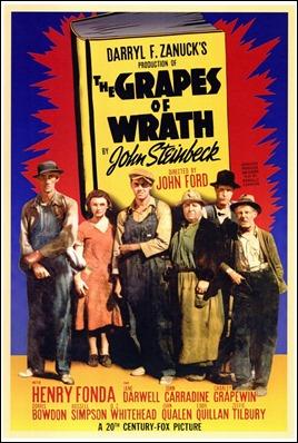 Cartel original de Las uvas de la ira, de John Ford