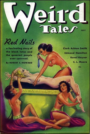Margaret Brundage y el bondage en su portada de Weird Tales sobre Clavos rojos