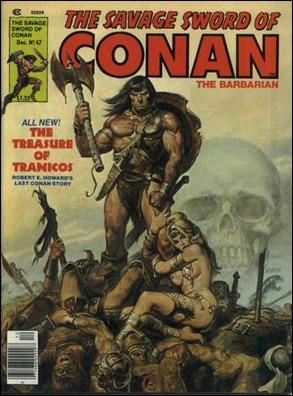 Portada de Earl Norem para El tesoro de Tranicos, o sea, El forastero negro