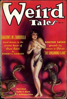 Portada de M. Brundage en Weird Tales para Sombras en Zamboula