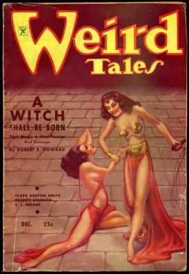Portada de Weird Tales con Nacera una bruja