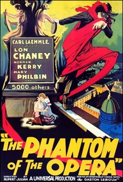 Cartel de la version Chaney de el fantasma de la opera