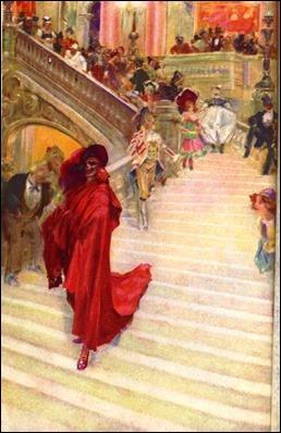Ilustracion de Andre Castaigne para la primera edicion americana de El fantasma de la opera
