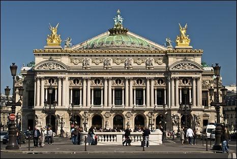 La Opera Garnier de Paris donde tiene lugar El fantasma de la Opera