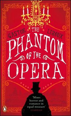 Portada de la edicion Penguin de El fantasma de la Opera