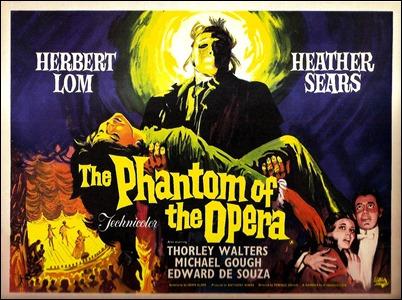 Cartel de la version Hammer de El fantasma de la Opera