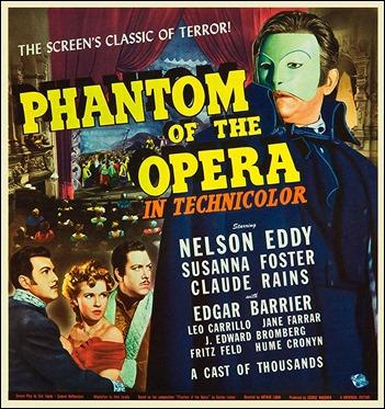 Cartel estadounidense de El fantasma de la Opera, version de 1943