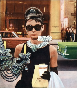 BREAKFAST AT TIFFANY'S, Audrey Hepburn, 1961 1960s movies 1961 movies Black dress Films by Blake Edwards Hepburn,audrey Movies OSRS Story-black dress Sunglasses Tiffany's Window