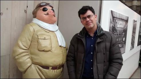 Porco Rosso y yo, en el Museo de la Historieta de Bruselas