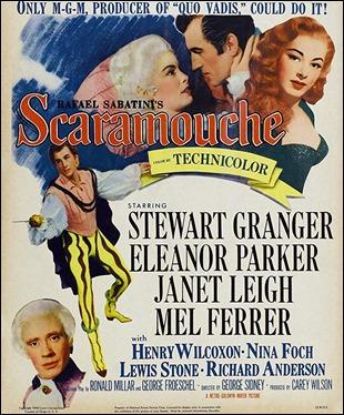 Cartel de Scaramouche, pelicula de la Metro Goldwyn Mayer