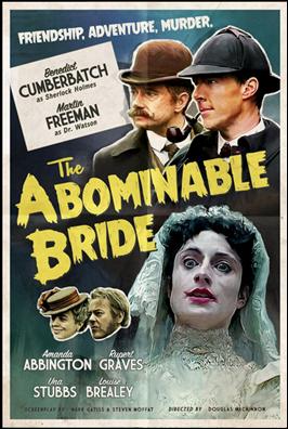 Gracioso afiche de aroma clásico para La novia abominable