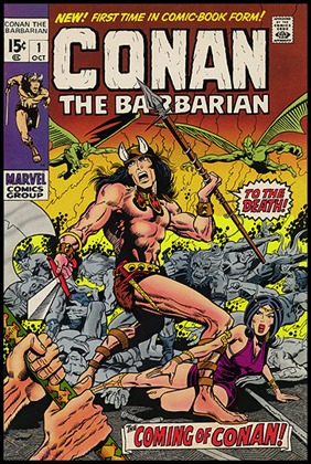 Portada del primer numero de Conan the Barbarian, por Barry Smith