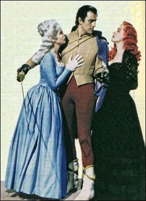 Scaramouche entre Alina de Gavrillac y Leonor, las dos mujeres de su vida