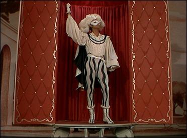 Scaramouche, personaje comico y aventurero, siempre bajo mascara