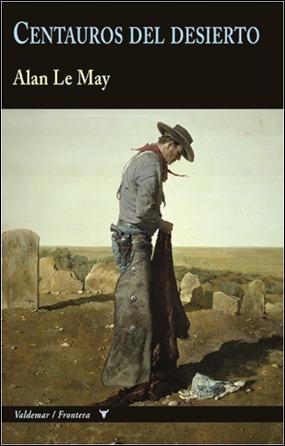 Bonita portada de Centauros del desierto, en Valdemar, obra de Robert E. McGinnis, que representa a John Wayne