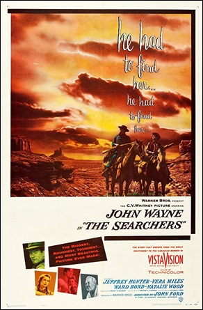 Cartel original de Centauros del desierto o The Searchers