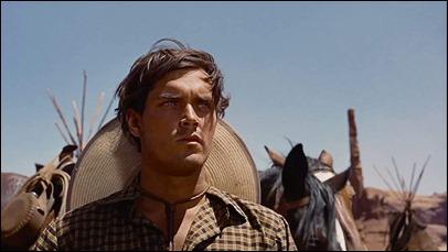 Inolvidable Jeffrey Hunter en Centauros del desierto