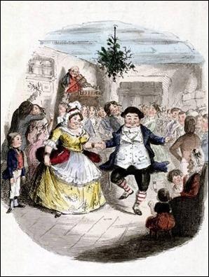 El baile de Mr Fezziwig en A Christmas Carol