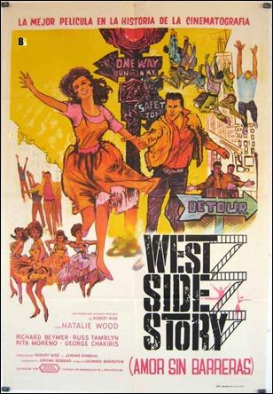 Poster español de West Side Story, con su subtitulo original