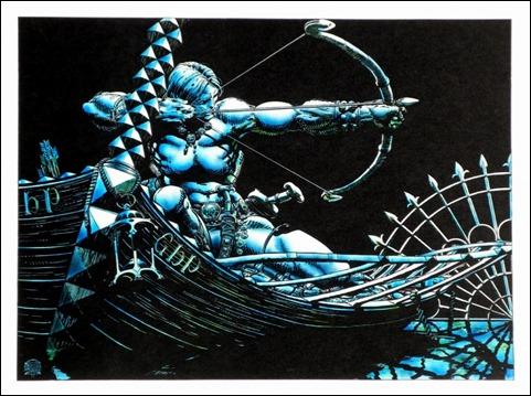 Estupenda ilustración de Conan, por Barry W. Smith