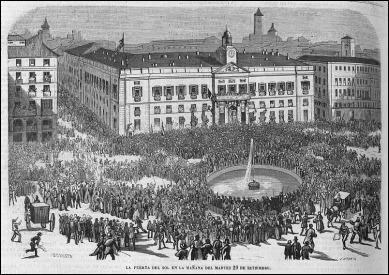 La Gloriosa Revolucion, en la Puerta del Sol