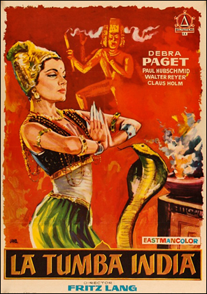 Cartel español de La tumba india