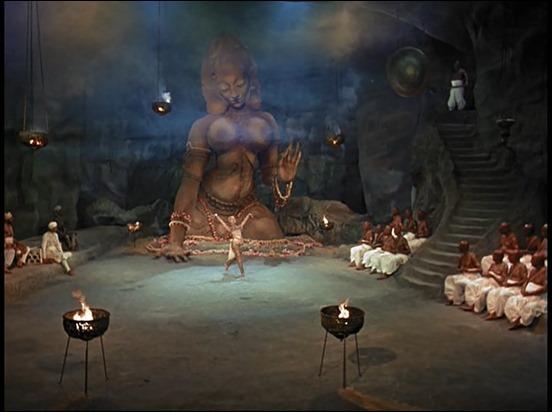 La bailarina y la diosa, en El tigre de Esnapur