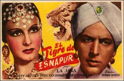La version de El tigre de Esnapur de los años 30