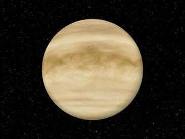 El nubloso planeta Venus, escenario de Astronautas