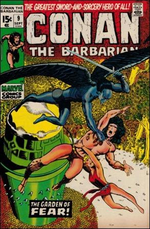 Episodio de Conan el Bárbaro de Marvel que recrea el relato El jardín del miedo