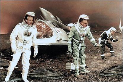 Fotograma de Der Schweigende Stern, adaptación germano-polaca al cine de Astronautas
