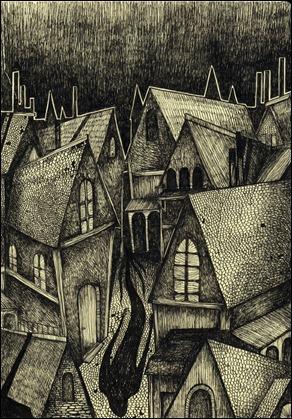 Ilustración para el Golem, de Sigrid Rodli