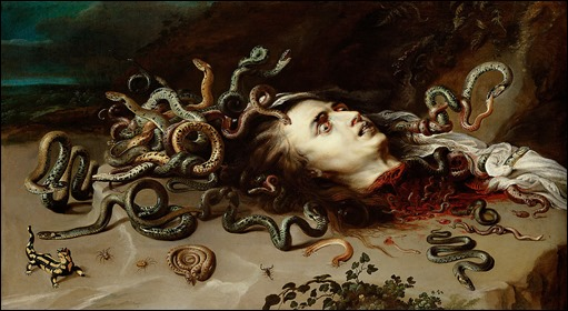 La cabeza de Medusa, fabuloso cuadro de Rubens