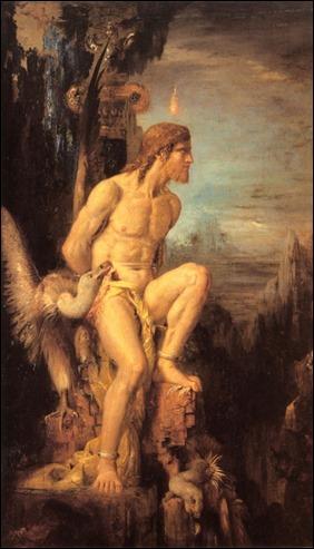 Prometeo, por Gustave Moreau