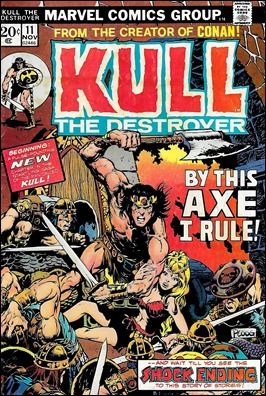 Uno de los tebeos de Kull, en Marvel