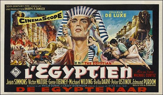 Cartel de Sinuhé el egipcio, muy propio de los excesos del kolossal