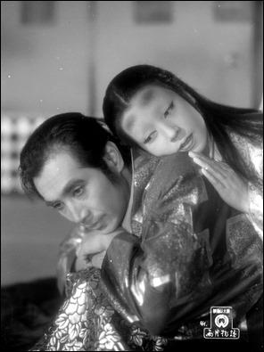 El alfarero Genjuro y la princesa Wakasa en Cuentos de la luna pálida