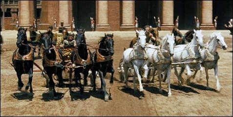 La carrera de cuádrigas de Ben-Hur