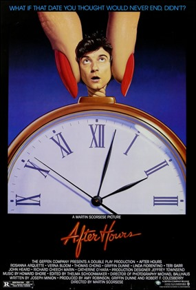 Cartel original de After Hours, en España Jo, que noche