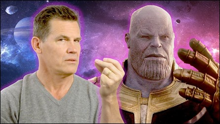 Josh Brolin y su doble oscuro, Thanos