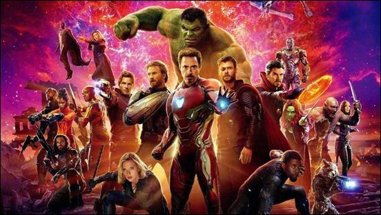 La alineacion de los heroes de la Tierra contra Thanos