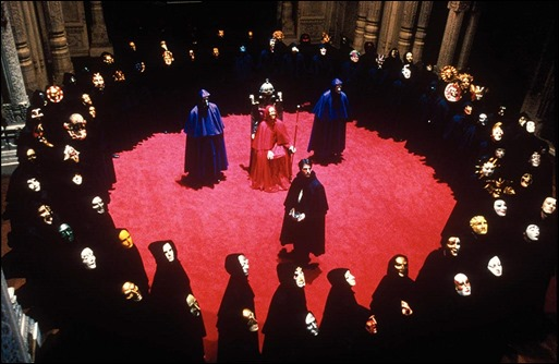 La pomposa escena de la orgia esoterica