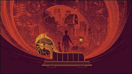 Bonita ilustracion de La maquina del tiempo, para la edicion en Sportula