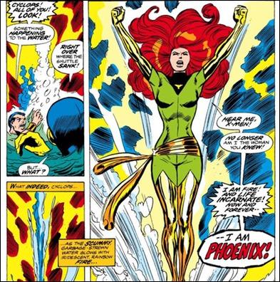 El nacimiento de Fenix en los comics