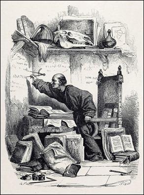 Frollo en su celda de Notre Dame, de Piaud