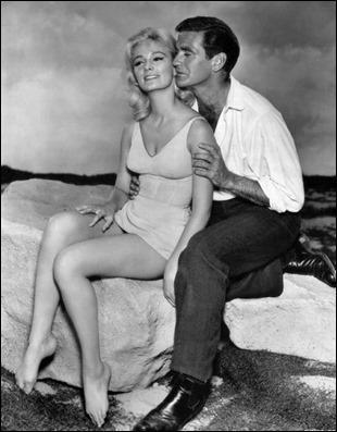Rod Taylor e Yvette Mimieux, los protagonistas de El tiempo en sus manos